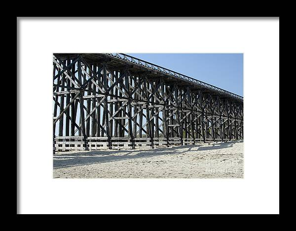 Structures Framed Print featuring the photograph Pudding Creek Bridge by Sandra Bronstein