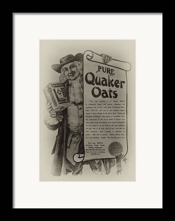 Pure Quaker Oates Framed Print featuring the photograph Pure Quaker Oates by Bill Cannon
