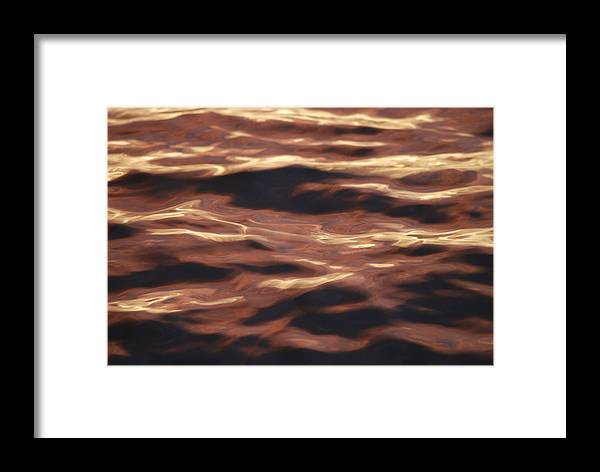Purple Framed Print featuring the photograph Purple Abstract Water by Michael Merry