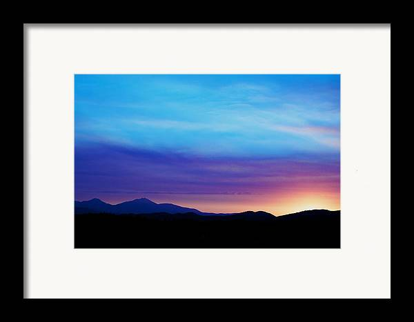 Sunset Framed Print featuring the photograph Purple Evening by Kevin Bone