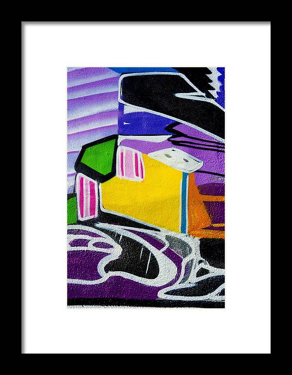 Graffiti Framed Print featuring the photograph Purple For You by Armando Perez