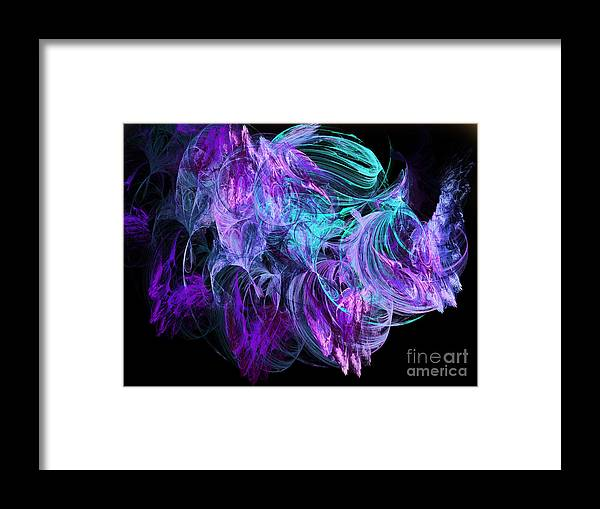 Fine Art Framed Print featuring the digital art Purple Fusion by Andee Design