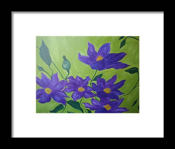 Purple Framed Print featuring the painting Purple Glory by Berta Barocio-Sullivan