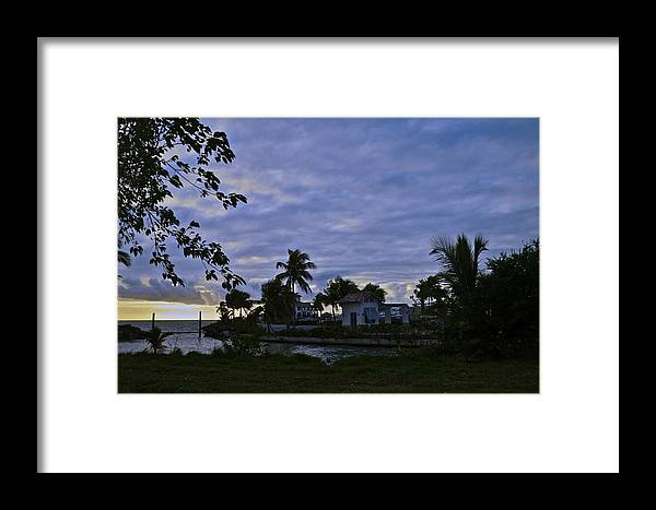 Landscape Framed Print featuring the photograph Purple Haze by Nancy Rohrig