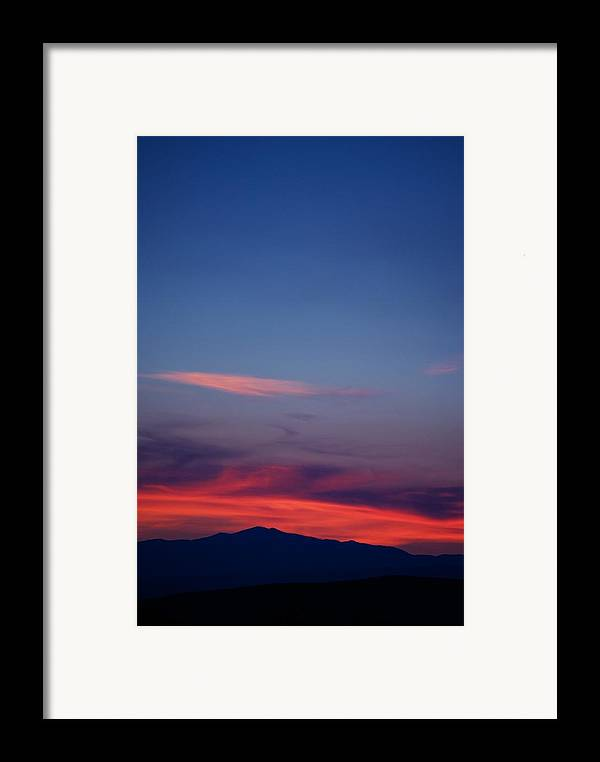 Sunset Framed Print featuring the photograph Purple Mountain by Kevin Bone