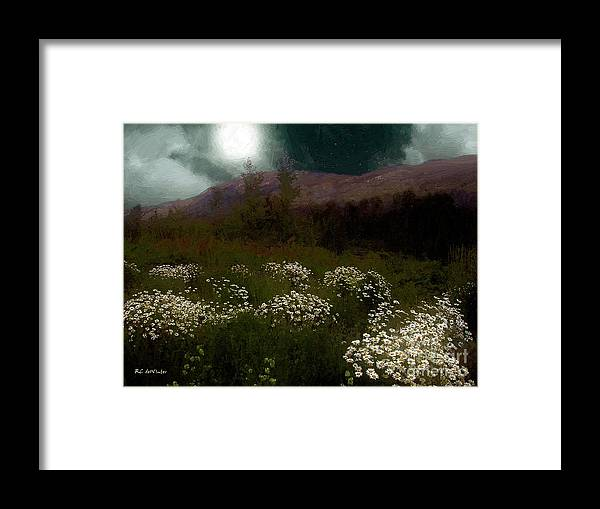 Daisies Framed Print featuring the painting Purple Mountain Meadow by RC DeWinter
