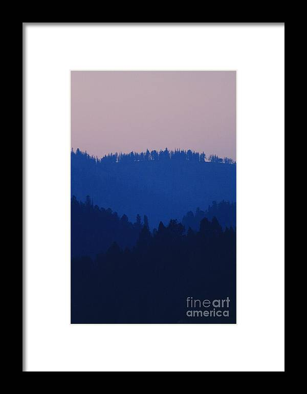 Yellowstone Sunset Framed Print featuring the photograph Purple Mountain Muse by Kurt Holtzen