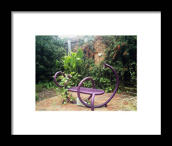 Purple Seat Framed Print featuring the photograph Purple Seat by Laura Folk