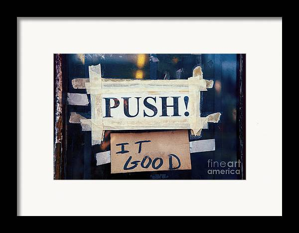 New Orleans Framed Print featuring the photograph Push It Good by Kim Fearheiley