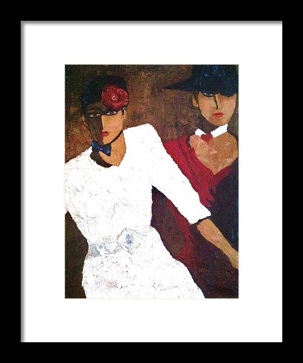Figures Framed Print featuring the painting Puttin' On The Ritz by Helen Wendle