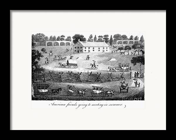 1811 Framed Print featuring the photograph Quaker Meeting, 1811 by Granger
