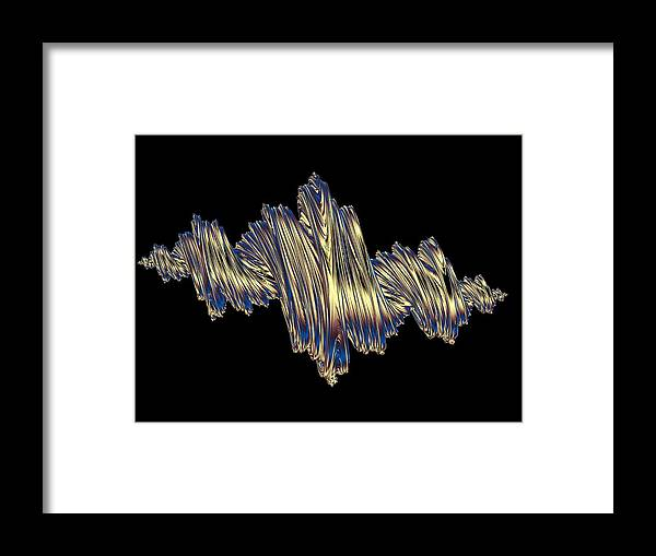 Illustration Framed Print featuring the photograph Quaternionic Fractals by Laguna Design