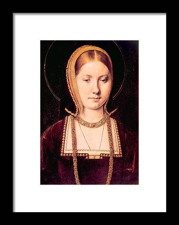 1500s Framed Print featuring the photograph Queen Katherine Of Aragon 1485-1536 by Everett