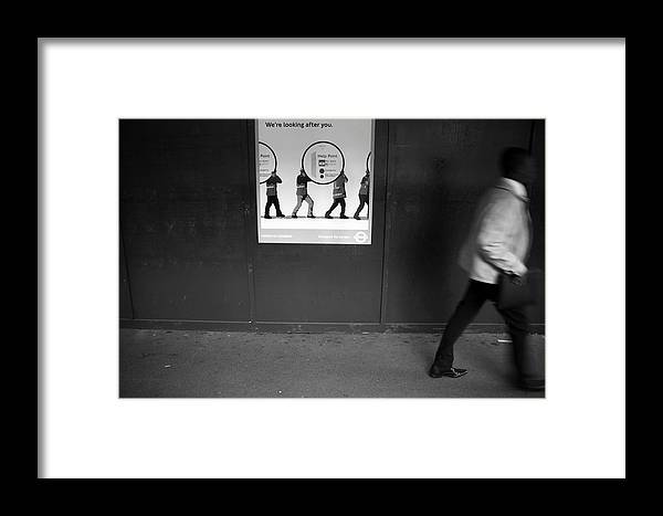 Jezcself Framed Print featuring the photograph Quickly Through The Tunnel by Jez C Self