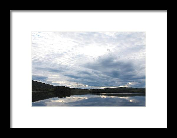 Landscape Framed Print featuring the photograph Quiet Lake by Ulrich Kunst And Bettina Scheidulin