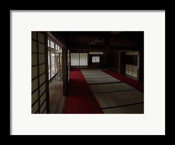 Zen Framed Print featuring the photograph Quietude Of Zen Meditation Room - Kyoto Japan by Daniel Hagerman
