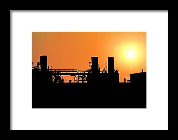 Industry Framed Print featuring the photograph Quitting Time by Mike Flynn