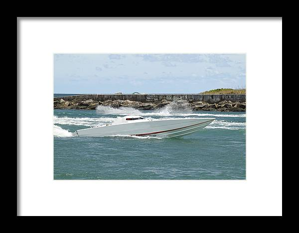 Speed Framed Print featuring the photograph Race Boat by Rudy Umans