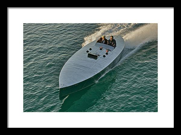Lake Tahoe Framed Print featuring the photograph Raceboat Mercury by Steven Lapkin