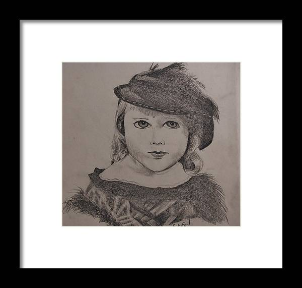 Portrait Framed Print featuring the drawing Rachel by Stefon Marc Brown
