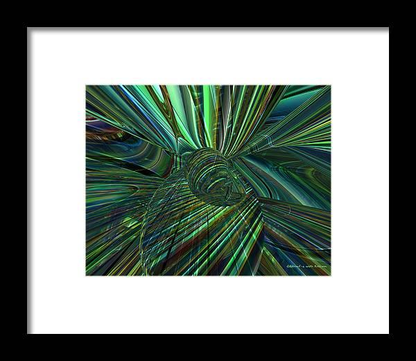 Canvas Framed Print featuring the digital art Radiant Digital Floral Fx by G Adam Orosco