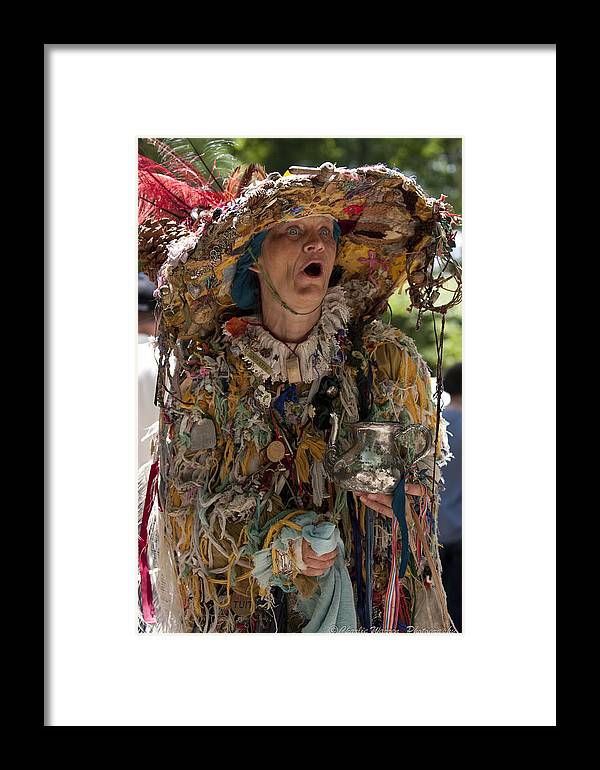 Medeival Framed Print featuring the photograph Rag Lady Begging by Charles Warren