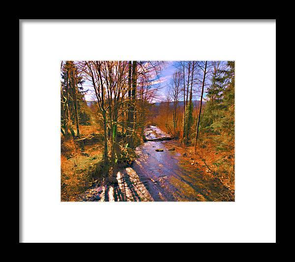 Preston Framed Print featuring the photograph Raging River near Preston by Scott Massey