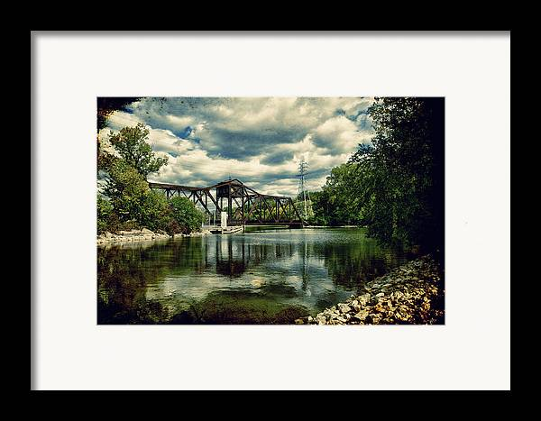 Bridge Framed Print featuring the photograph Rail Swing Bridge by Joel Witmeyer