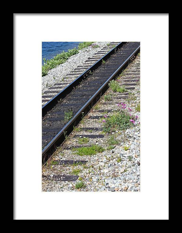 Rail Framed Print featuring the photograph Railroad To Yukon by Sophie Vigneault