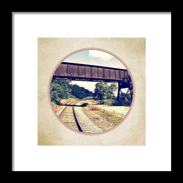 Photo Framed Print featuring the photograph Railroad Tracks And Trestle by Phil Perkins