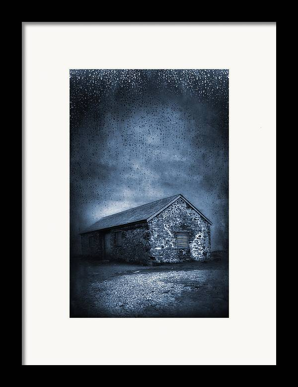 Abandoned Framed Print featuring the photograph Rain by Svetlana Sewell
