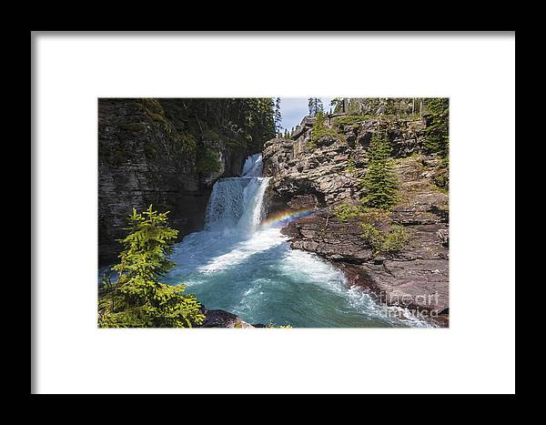 Rainbow Framed Print featuring the photograph Rainbow Falls by Scotts Scapes