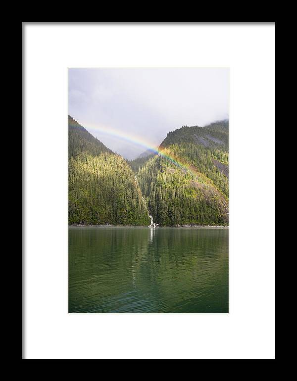 Mp Framed Print featuring the photograph Rainbow Over Forest, Endicott Arm by Konrad Wothe