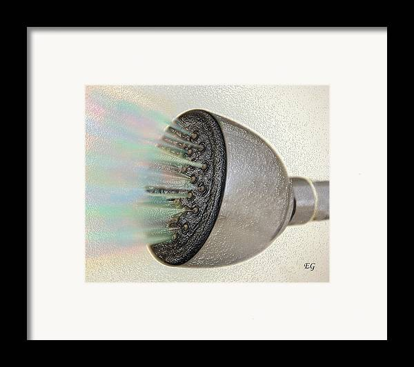 Shower Head Framed Print featuring the photograph Rainbow Shower by Eddie Glass