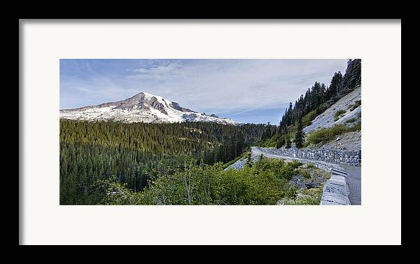 Mountain Framed Print featuring the photograph Rainier Journey by Mike Reid