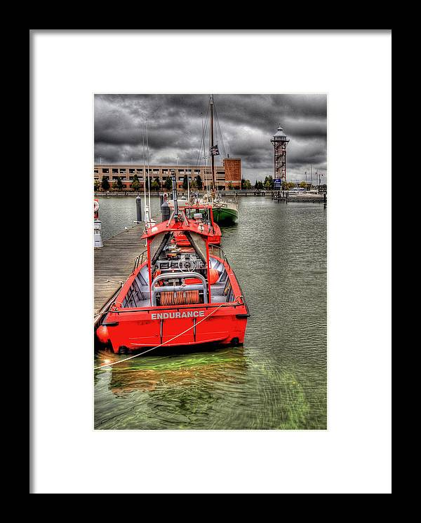 Hdr Framed Print featuring the photograph Rainy Bay by Brian Fisher