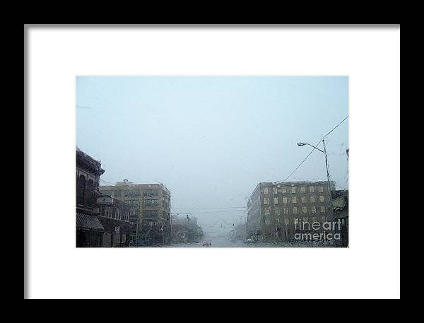 Rain Framed Print featuring the photograph Rainy Day by Victor Sexton