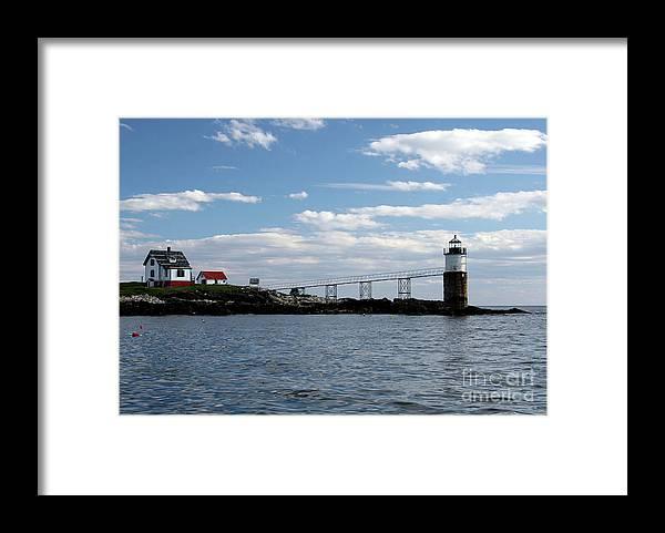 Ram Island Framed Print featuring the photograph Ram Island Light by Brenda Giasson