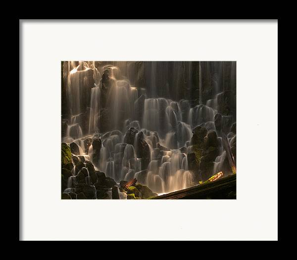 Oregon Framed Print featuring the photograph Ramona Falls by Ulrich Burkhalter