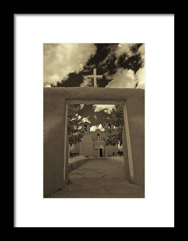 Infrared Framed Print featuring the photograph Rancho De Taos by Christine Hauber