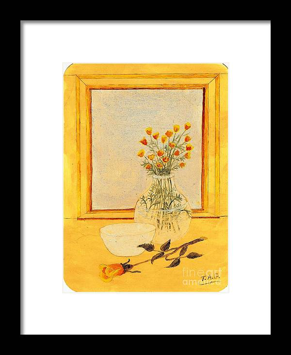 Roses Framed Print featuring the painting Rare Rosebuds by Jessi and James Gault