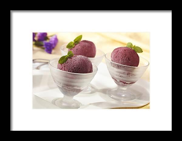 Raspberry Framed Print featuring the photograph Raspberry Sorbet by Federico Arce
