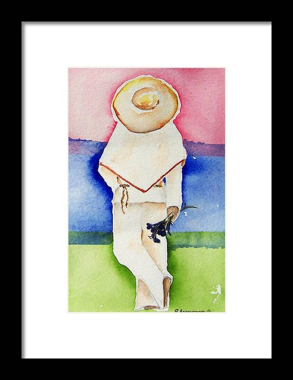 Southwest Art Framed Print featuring the painting Raul by Regina Ammerman