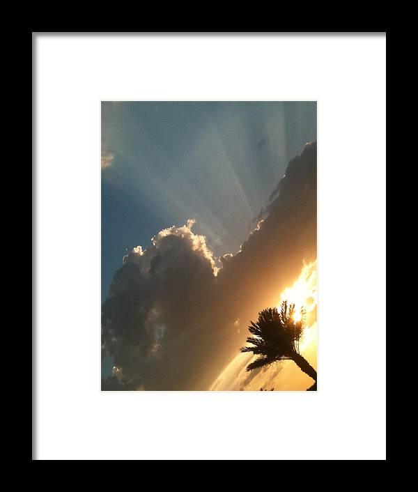 Sun Ray Framed Print featuring the photograph Raze by Jason Crandell