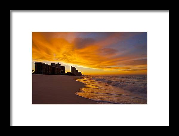 Sunset Framed Print featuring the photograph Reaching Out by Justin Robertson