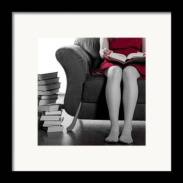 Woman Framed Print featuring the photograph Reading by Joana Kruse