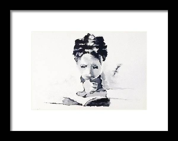 Framed Print featuring the painting Reading Woman IIi by Graciela Scarlatto