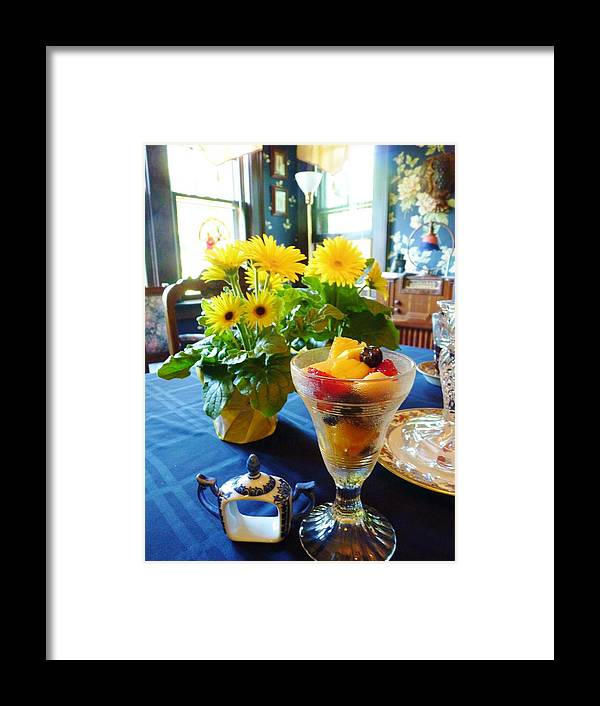 Table Framed Print featuring the photograph Ready For Brunch by Jeanette Oberholtzer