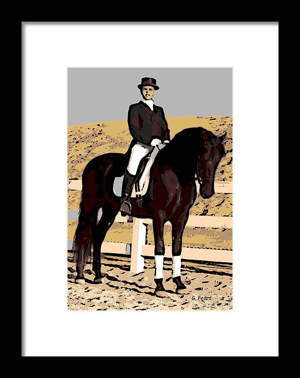 Rider Framed Print featuring the photograph Ready To Compete by George Pedro