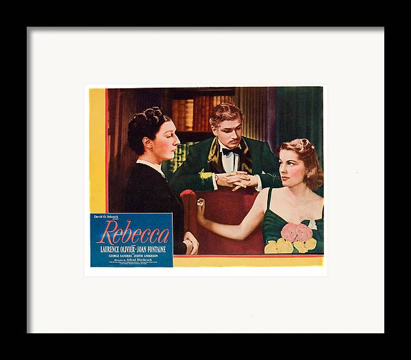 1940 Movies Framed Print featuring the photograph Rebecca, From Left Judith Anderson by Everett